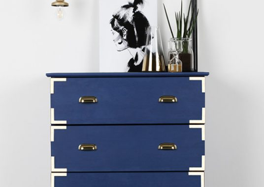 IKEA HACK: INK BLUE U0026 GOLD DRAWERS