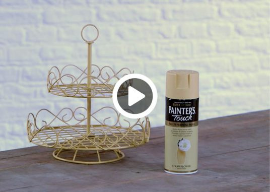 how-to-spray-paint-a-cake-stand