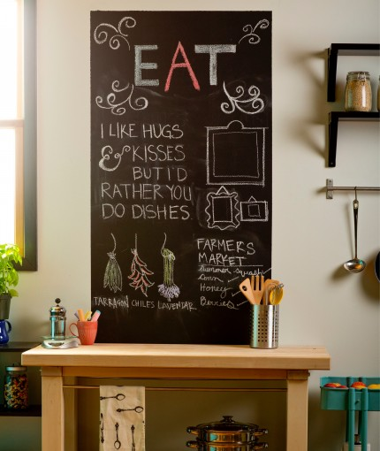 Chalkboard Paint (Brush) - Chalkboard Paint Kitchen Wall