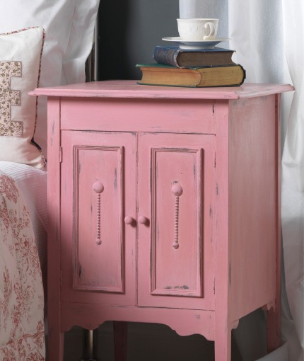 Furniture Finishing Wax (clear) - Dusky Pink Bedside Table