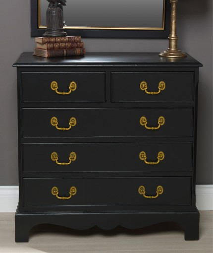 Gloss Finish Furniture Paint - Liquorice Chest of Drawers