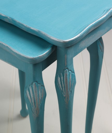 Metallic Finish Furniture Paint - Belgrave & Silver Nest of Tables