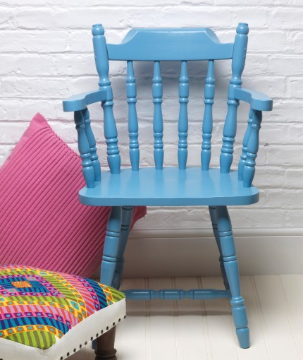 Satin Finish Furniture Paint - Cornflower Blue Chair