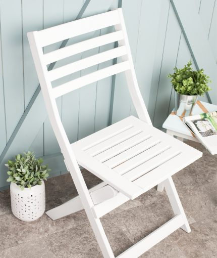 Chalky Finish Garden Furniture Paint (Brush) - Chalky Finish Garden Furniture Paint Chalk White Chair