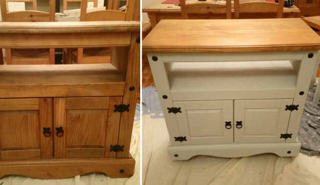 Competition Winners Rustoleum Spray Paint, Mexican Pine Furniture Painted
