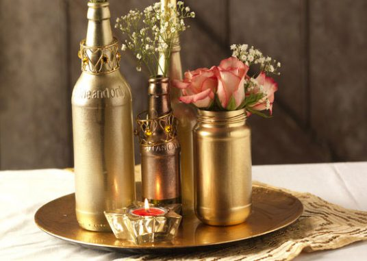 Wedding Bottle Table Arrangement