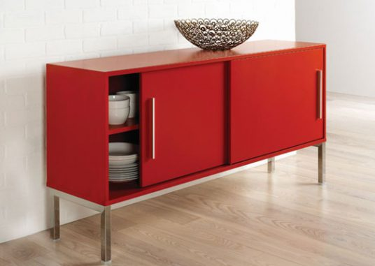 Metal Furniture Red Table