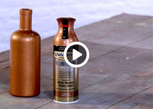 how-to-spray-paint-a-glass-bottle